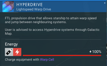 Hyperdrive recharge