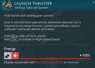 Launch Thruster recharge