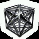 立方体部屋の骨組み