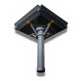 立方体部屋の基礎支柱