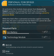 Personal Forcefield creation