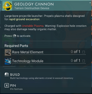 Geology Cannon creation