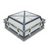 立方体部屋のルーフキャップ