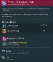 Starship Launch Fuel creation
