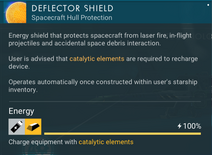 Deflector Shield recharge