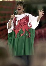 Shirley Bassey - Welsh Dragon dress.