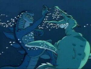 Zilla fights Cryptocleidus