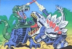 Tankasaurus Rex vs Stego-Striker