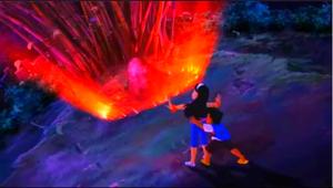 Anna opens the portal to Elementalia.