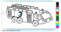 Fire truck colouring