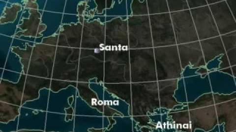 NORAD Tracks Santa 2007 - Rome, Italy