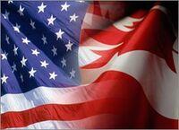 USA-Canada Flag