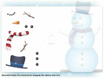 Dress Frosty the snowman