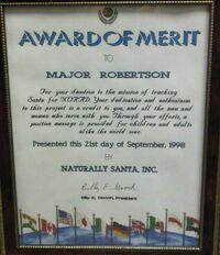 MAJ Robertson - Award of Merit - Naturally Santa – 1998.jpg