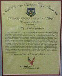– MAJ Roberston – NORAD Deputy CinC –Commendation - 2001.jpg