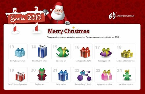 AirServices Australia Tracks Santa Website - 2010