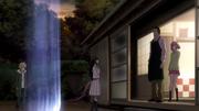 Daikoku letting Hiyori past the border