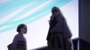 Rabo and Nora watching Hiyori