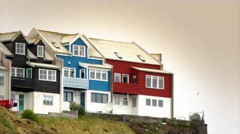 Faroe Islands multi colored houses of Torshavn