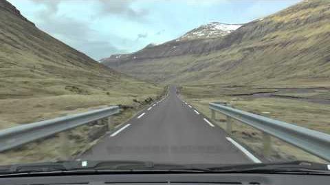 Färöer - Die Straße von Hvalvik nach Saksun