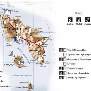 Szlaki turystyczne na Sandoy