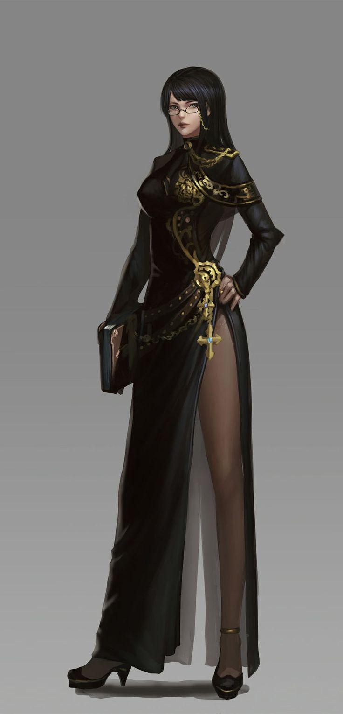 Fantasy Art Char In Dress