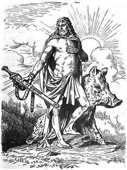 Freyr and Boar
