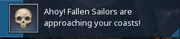 Fallen Sailor Warning