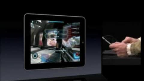 N.O.V.A. on iPad - Apple Keynote January 2010 (Near Orbit Vanguard Alliance)