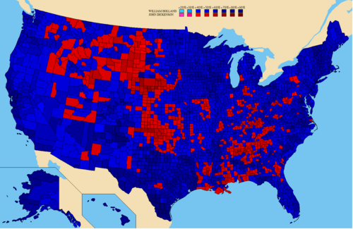 United States presidential election results by county, 2020 (Map Version)