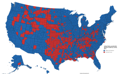 2016 64% Democratic Landslide