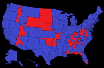 Election of 2020 by Congressional District