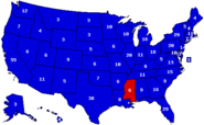 Map of the 2020 Election by Electoral Votes (States)