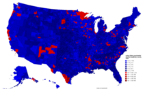 United States presidential election results by county, 2028 (Ferguson Scenario)