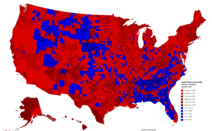 United States presidential election results by county, 2016 (Ferguson Scenario)