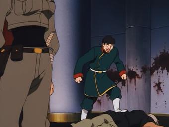 Hamdo kicking a dead corpse