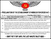 Mobilisation Order 47