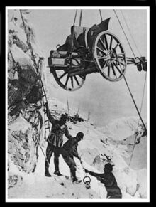 Alpini moving a 75 mm Mountain Gun