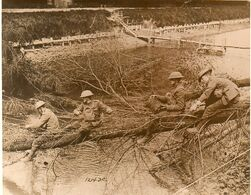 Inorothian Sappers clearing a downed tree