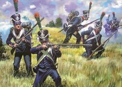 Inorothian Light Infantry in a skirmish formation