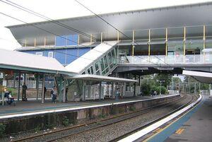 West ryde railway station footbridge