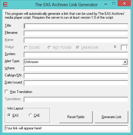 The EAS Archives Link Generator | WindozeNT Software Wiki | FANDOM