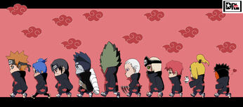 Akatsuki Chibi Madness by darkgal666