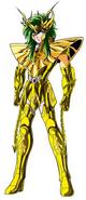 Shun con su nueva armadura del Noveno Sentido