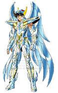 Seiya vistiendo la armadura del legendario heroe Pegaso