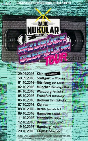 Nukular Tour 2016 Spielorte