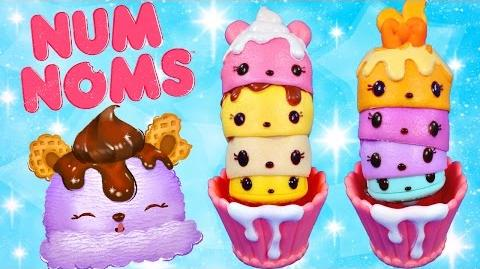 Num Noms! Brand new toys by Lalaloopsy! Ice Cream & Cupcake Party Packs Coming Soon Play Doh Cake