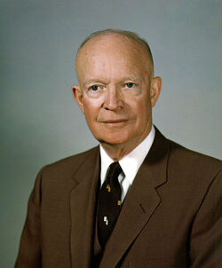 Dwight D. Eisenhower, White House photo portrait, February 1959