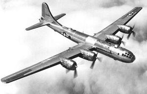 B-29 in flight