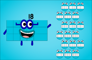 Eighteen with his numberblobs